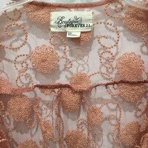 Forever 21 Sweaters - Gorgeous Lace Forever 21 Cardigan Shrug Sz S